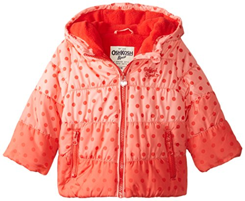 Osh Kosh Baby Girls' Heavyweight Single Jacket, Red, 24 Months