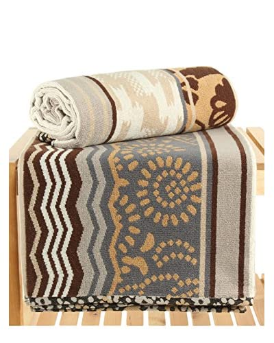 Maisonette Potpourri 2-Piece Bath Towel Set, Sahara