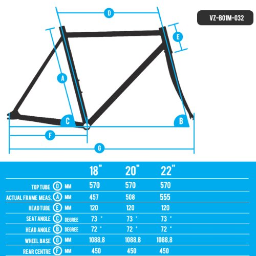 Venzo Mountain Bike Bicycle MTB Alloy Frame 29er 22