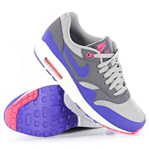 Nike Air Max 1 Essential Grey Purple Mens Trainers