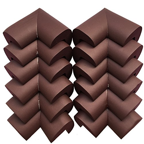 AWESOME 12 PCS Cushiony Table Furniture Childproofing Corner Guards Protectors Baby Safety Extra Dense Non Toxic Edge & Corner Guard Bumpers Coffee (Coffee Table Corner Guards compare prices)