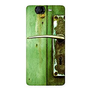 Classic Door Green Back Case Cover for Canvas Knight A350