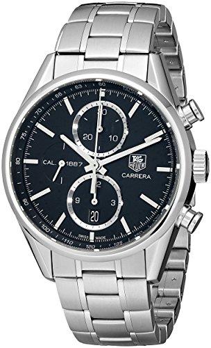 TAG Heuer Men's CAR2110.BA0720 Carrera Black Dial Chronograph Steel Watch