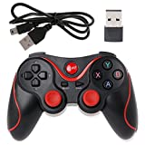Rawuin New T3 Wireless Bluetooth 3.0 Gamepad Gaming Controller + USB Receiver For Android Phone (Black)