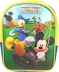 Disney Mickey Mouse and Friends Kids Small 3D Backpack Tote Bag