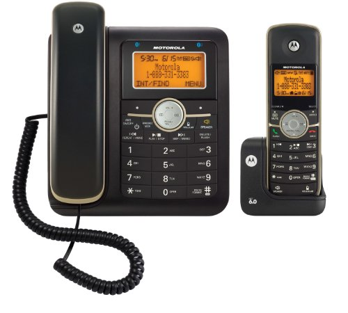 Motorola DECT 6.0 Corded Base Phone with Cordless Handset, D