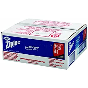 ZipLoc 94602 Commercial Resealable Bags Gallon Capacity, 101/2W x 11H,  1.75 Mil Storage Bags (250-Pack)