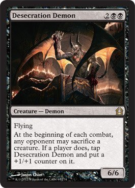 Magic: the Gathering - Desecration Demon (64) - Return to Ravnica by Wizards of the Coast