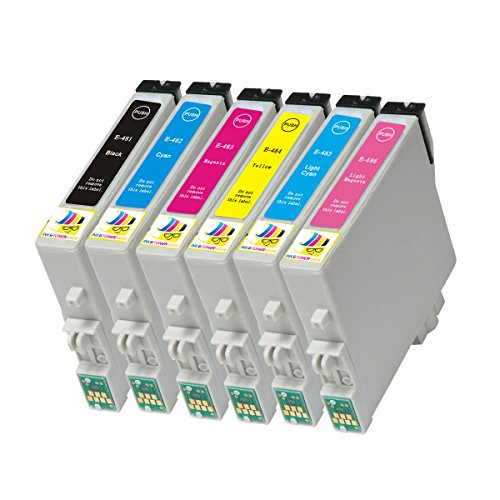 Ink & Toner Geek ® - 6 Pack Remanufactured Replacement Inkjet Cartridges for Epson T048 #48 (T048120, T048220, T048320, T048420, T048520, T048620) For Use With Epson Stylus Photo R200 Stylus Photo R220 Stylus Photo R300 Stylus Photo R300M Stylus Photo R320 Stylus Photo R340 Stylus Photo R500 Stylus Photo R600 Stylus Photo RX500 Stylus Photo RX600 Stylus Photo RX620 (1 Black, 1 Cyan, 1 Magenta, 1 Yellow, 1 Light Cyan, 1 Light Magenta)