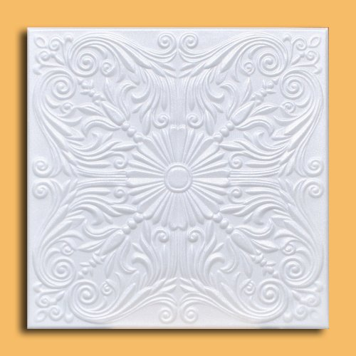 White Styrofoam Ceiling Tile Astana (Package of 8 Tiles) - Other Sellers call this Spanish Silver and R139