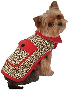 M. Isaac Mizrahi Leopard Collection Reversible Coat, Large, Red