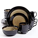 Gibson Home Bella Galleria 16 Piece Dinnerware Set, Taupe