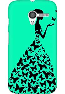 AMEZ designer printed 3d premium high quality back case cover for Moto X (greenish blue princess)