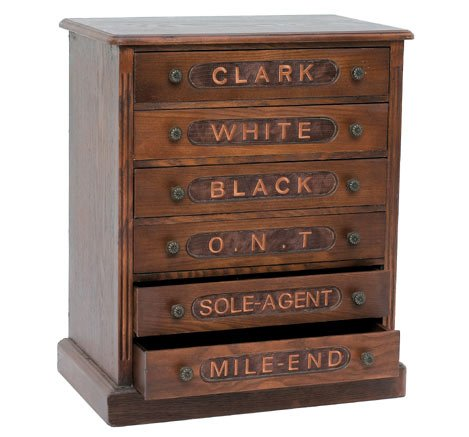 Wooden Spool Cabinet ~ 6 Draw Sewing Chest