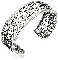 Sterling Silver Filigree Cuff Bracele…