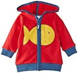 Kite Baby (Jungen 0-24 Monate) Kapuzenpullover Fishy zip through hoody, Gr. 92 (Herstellergröße:18-24 months), Rot