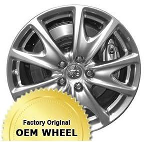 INFINITI G25,G37 18X8.5 5 V-SPOKES Factory Oem Wheel Rim- HYPER SILVER – Remanufactured