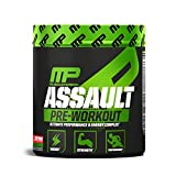 MusclePharm Assault Pre-Workout Powder for Energy, Focus, Strength and Endurance with Creatine, Taurine and Caffeine, Fruit Punch, 30 Servings