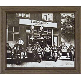 Vintage Motorcycle Pictures Framed