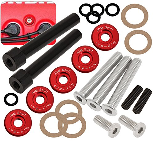 Acura Honda D-Series D15 D16 Jdm Low Profile Engine Valve Cover Washer Bolt Red (99 Civic Valve Cover compare prices)
