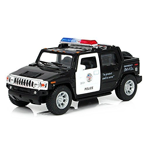 Diecast Cars Hammer H2 SUT Police Toy Cars 1:40