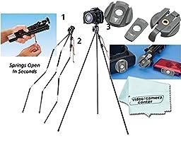 Tamrac TR404 ZipShot® Mini Tripod - Black + Tamrac A120 Zipshot Camera Quick-Release Accessory Kit