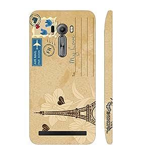Enthopia Designer Hardshell Case Postcard With Love Back Cover for Asus Zenfone Selfie