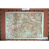 Impresión Antigua del Bosque 1921 de Alemania Heidelberg Geisberg Neckar del Mapa