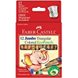 Faber-Castell 12ct Jumbo Triangular EcoPencils with Sharpener