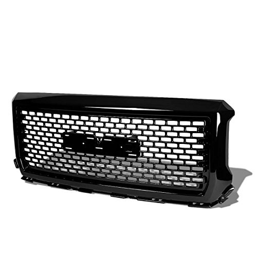 gmc-sierra-1500-glossy-black-square-mesh-style-front-upper-bumper-grille-by-auto-dynasty