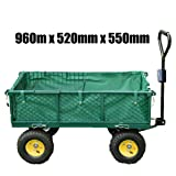 FoxHunter Heavy Duty Medium Size Garden Trolley 960mm x 520mm x 550mm 37