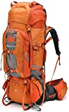 WATERFLY Internal Frame Backpacks 75L Large Backpack for Mountaineering Hiking Camping with Rain Cover