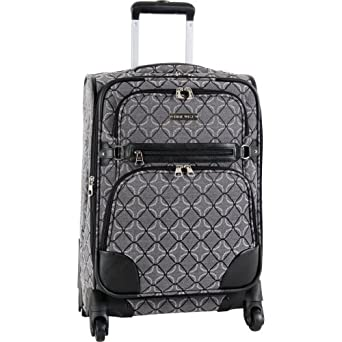 Ninewest Luggage 9 Element 20 Inch Upright Spinner, Black/Grey, One Size