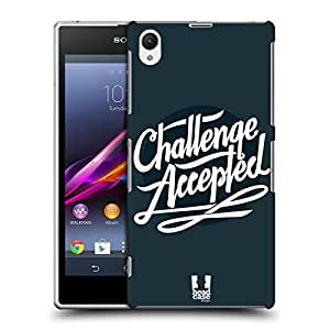 Head Case Designs Challenge Accepted Beyond the Disability Protective Snap-on Hard Back Case Cover for Sony Xperia Z1 C6902
