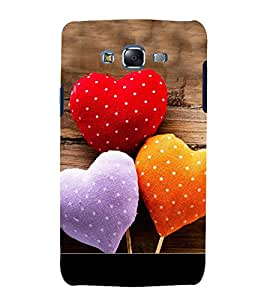 Love Hearts 3D Hard Polycarbonate Designer Back Case Cover for Samsung Galaxy J7 J700F (2015 OLD MODEL) :: Samsung Galaxy J7 Duos :: Samsung Galaxy J7 J700M J700H