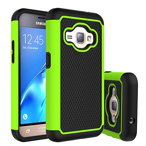 J1 2016 Case, Galaxy Amp 2 Case, Galaxy Express 3 Case, Anna Shop Slim Hybrid Dual Layer Armor Shock Absorption Defender Impact Protective Case Cover for Samsung Galaxy J1 2016 / Amp 2 / Express 3 (Otterbox Samsung 5 Mini compare prices)