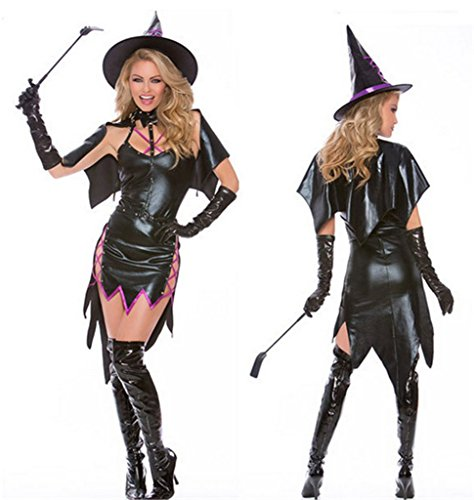 Totoer Women's Haunted House Witch Costume