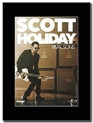 Rival Sons-arancione Gear...Scott Holiday Magazine Promo su un supporto, colore: nero
