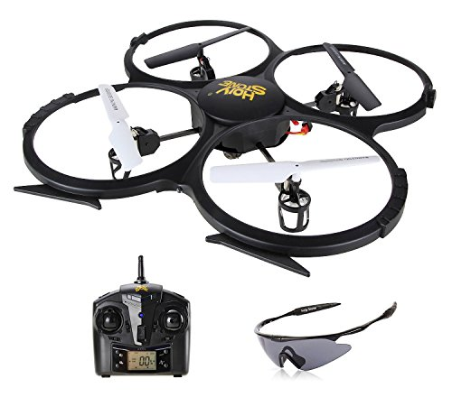 Holy-Stone-U818A-RC-Quadcopter-Drone-with-HD-Camera-Return-Home-Function-Headless-Mode-24GHz-4CH-6-Axis-Gyro-RTF-Includes-Bonus-Battery-and-Goggles