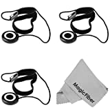 3 Pcs Lens Cap Keeper + Premium MagicFiber Microfiber Cleaning Cloth