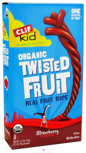 CLIF BAR KID ZFRUIT,OG2,STRAWBERRY 6/.7 OZ 6-CS (722252381019)
