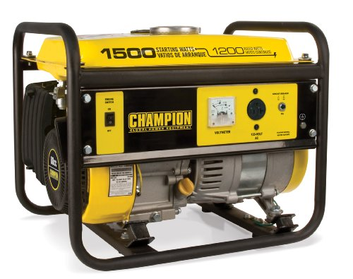 Champion Power Equipment 42436 1500-Watt Portable Generator, CARB Compliant