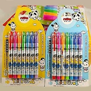 1Set Elongated Plastic Colorful Graffiti Pen Educational Toys