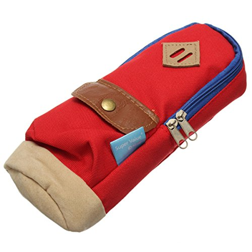 KingSo(TM) Mini Rucksack Bleistiftbeutel Bleistift Tasche Leinwand Tasche Make-up Tasche Rot