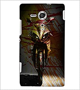 PrintDhaba Bike D-3894 Back Case Cover for SONY XPERIA SP (Multi-Coloured)