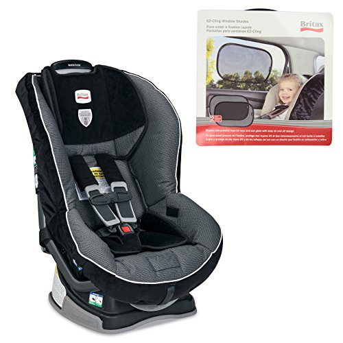 Britax Marathon G4 In Onyx W Ez-Cling Window Shade (2 Pack) front-758940