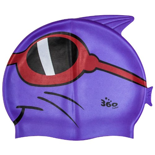 New 360 Junior Fun Swim Silicone Pool Cap Kids Swimming Hat - Dean Dude