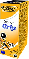 Bic Orange Grip Stylos à bille Pointe fine 0,8 mm lot de 20 pieces Noir