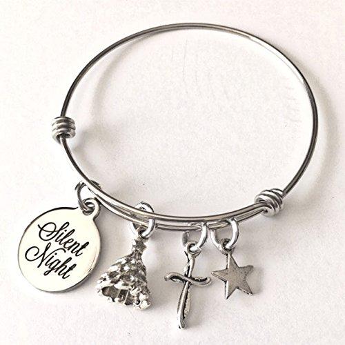 christmas-silent-night-with-cross-tree-and-star-adjustable-bangle-bracelet
