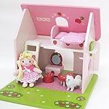【夏のセール】 野苺 木のおもちゃ ミニ仲良しハウス ミニドールハウス